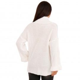 Λευκή Πλεκτή Μπλούζα Ζιβάγκο