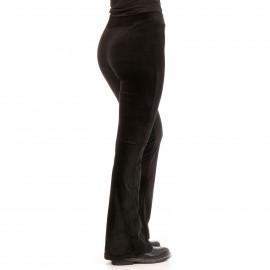 Μαύρο Βελούδινο Παντελόνι Καμπάνα