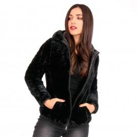 Μαύρο Puffer Jacket Διπλής Όψης