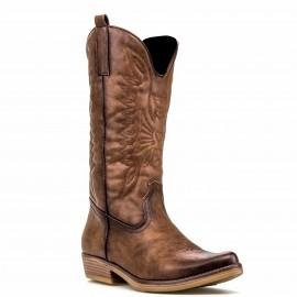 """Καφέ Μυτερή Μπότα """"Cowboy"""""""