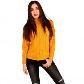 Κίτρινη Πλεκτή Μπλούζα Ζιβάγκο