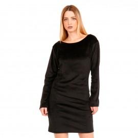 Μαύρο Βελούδινο Mini Φόρεμα με Δαντέλα
