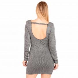 Γκρι Mini Φόρεμα με Glitter