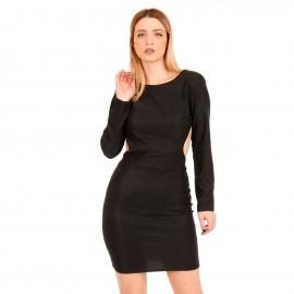 Μαύρο Mini Φόρεμα με Glitter