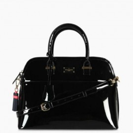 Μαύρη Τσάντα Χειρός Paul's Boutique Maisy Top Handle In Black Patent