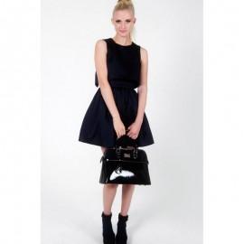 Μαύρη Τσάντα Χειρός Paul's Boutique Maisy Top Handle In Black Patent