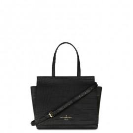 Μαύρο Croco Τσαντάκι Χειρός Paul's Boutique Kaila Cross Body Bag Black