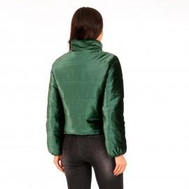Πράσινο Βελούδινο Καπιτονέ Bomber Jacket