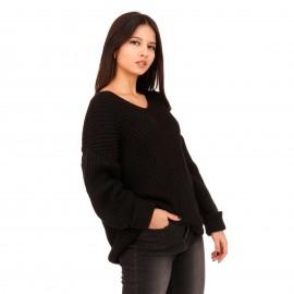 Μαύρη Πλεκτή Μπλούζα