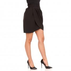 Μαύρη Mini Φούστα Κρουαζέ