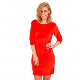 Κόκκινο Βελούδινο Mini Φόρεμα με Δαντέλα