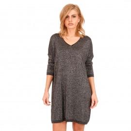 Μαύρο Midi Φόρεμα με Glitter