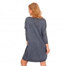 Μπλε Midi Φόρεμα με Glitter