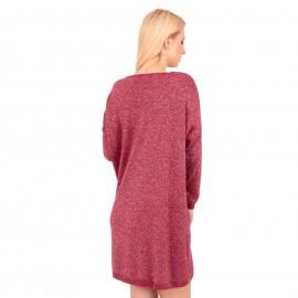 Μπορντό Midi Φόρεμα με Glitter