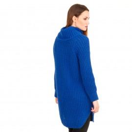 Μπλε Ρουά Πλεκτό Μπλουζοφόρεμα