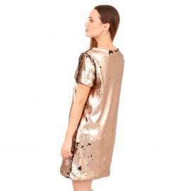 Χρυσό Mini Φόρεμα με Παγέτες