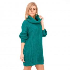 Πράσινο Πλεκτό Μπλουζοφόρεμα Ζιβάγκο
