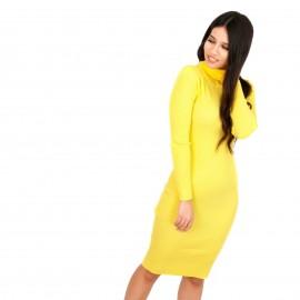 Κίτρινο Ripped Mini Φόρεμα Ζιβάγκο
