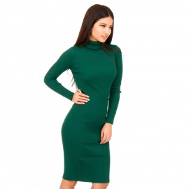 Πράσινο Ripped Mini Φόρεμα Ζιβάγκο