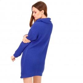 Μπλε Ρουά Πλεκτό Μπλουζοφόρεμα Ζιβάγκο