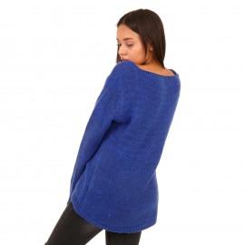 Μπλε Πλεκτή Μπλούζα