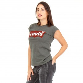 Χακί T-Shirt με Στάμπα