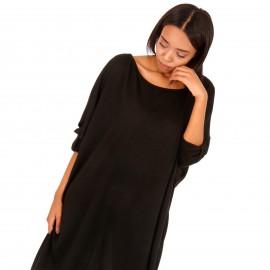 Μαύρο Μακρυμάνικο Μπλουζοφόρεμα