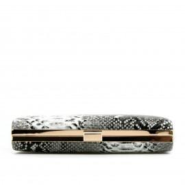 Μαύρο Clutch Τσαντάκι σε Snake Print
