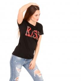 Μαύρο T-Shirt με Στάμπα