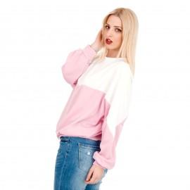 Μακρυμάνικη Μπλούζα σε Ρόζ και Λευκές Αποχρώσεις