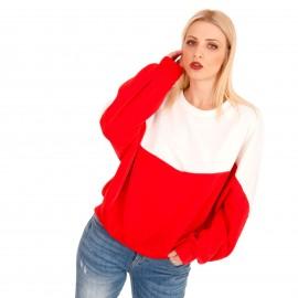 Μακρυμάνικη Μπλούζα σε Κόκκινες και Λευκές Αποχρώσεις