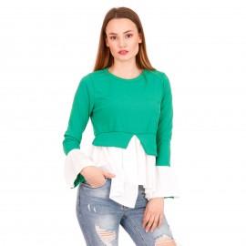 Πράσινη Ripped Μακρυμάνικη Μπλούζα