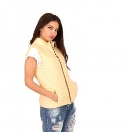 Κίτρινο Αμάνικο Puffer Jacket