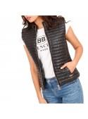 Μαύρο Αμάνικο Puffer Jacket