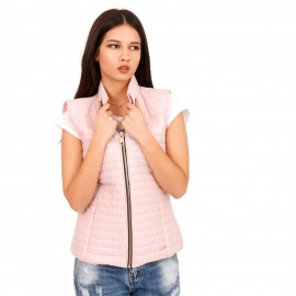 Ρόζ Αμάνικο Puffer Jacket