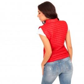 Κόκκινο Αμάνικο Puffer Jacket