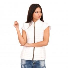 Λευκό Αμάνικο Puffer Jacket