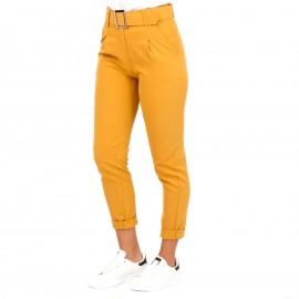 Κίτρινο Παντελόνι με Ζώνη