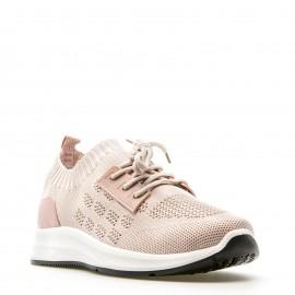Ρόζ Knit Sneakers με Κορδόνια