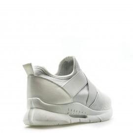 Λευκά Knit Sneakers με Λάστιχα