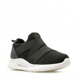 Μαύρα Knit Sneakers με Λάστιχα
