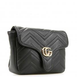 Μαύρο Belt Bag με Μεταλλική Λεπτομέρεια