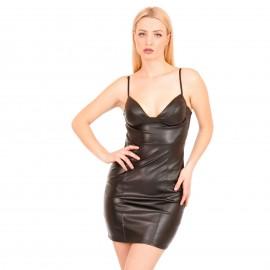 Μαύρο Ματ Mini Φόρεμα