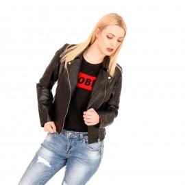 Μαύρο Ματ Biker Jacket