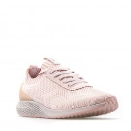Ρόζ  Sneakers Tamaris με Δίχτυ