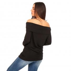 Μαύρη Off Shoulder Μπλούζα