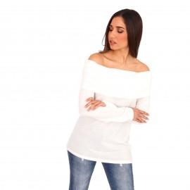 Λευκή Off Shoulder Μπλούζα