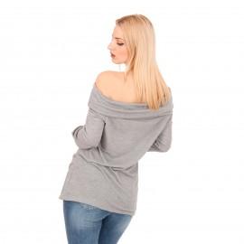 Γκρι Off Shoulder Μπλούζα