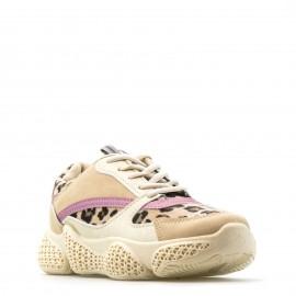Μπεζ Sneakers με Λεοπάρ Λεπτομέρειες