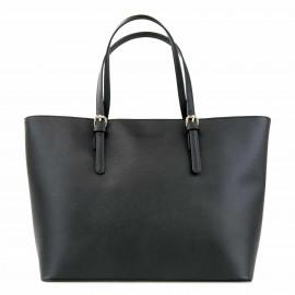Μαύρη Τετράγωνη Τσάντα Ώμου More Fashion
